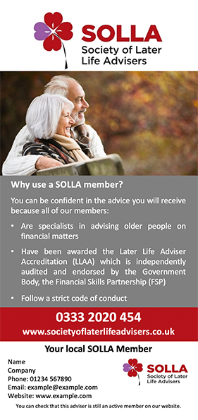 SOLLA 2.Rack card WHICH bespoke artwork file