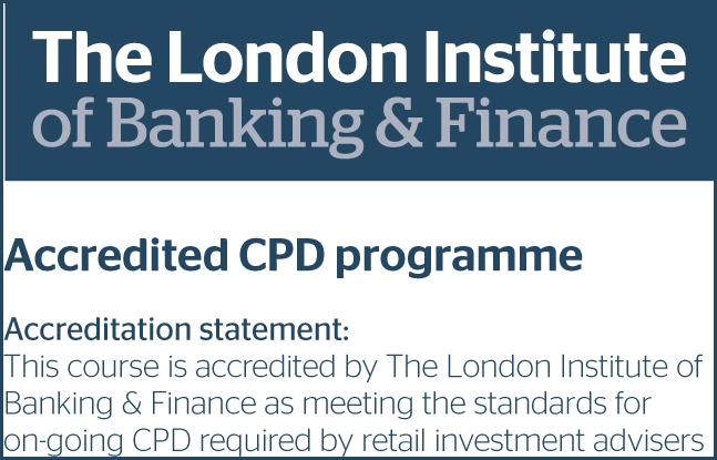 Accredited CPD logo-retail investment advisers with border